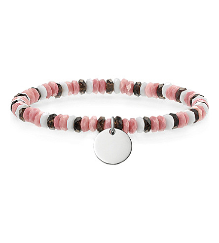 THOMAS SABO Love Bridge sterling silver, quartz, jasper and agate bracelet
