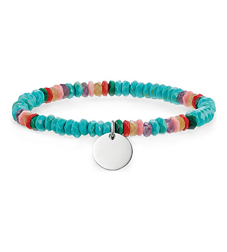THOMAS SABO Love Bridge sterling silver, turquoise, bamboo coral and amethyst bracelet