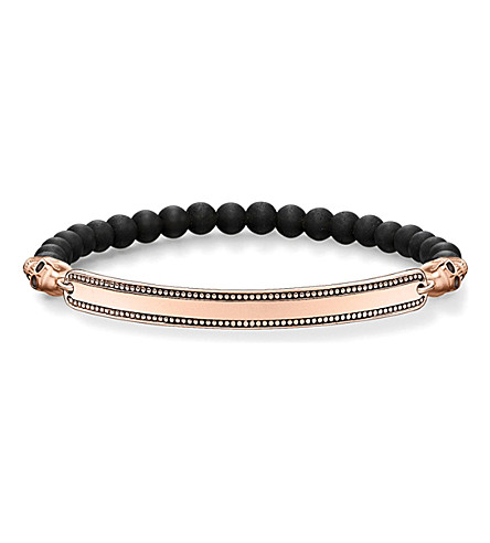 THOMAS SABO Skull Love Bridge 18ct rose gold-plated bracelet
