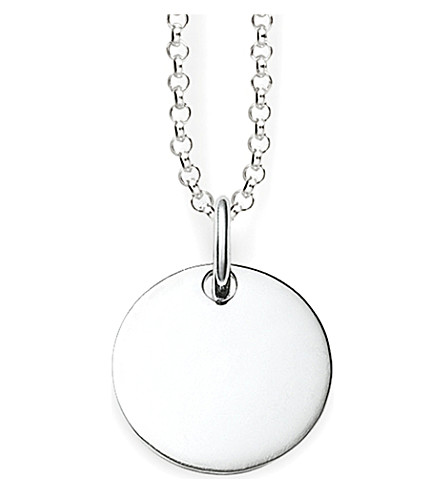 THOMAS SABO Love Bridge Round Disc sterling silver pendant necklace