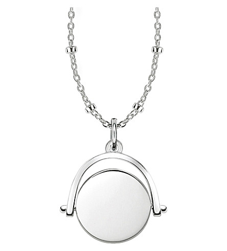 THOMAS SABO Sterling silver Spinning Coin engravable necklace