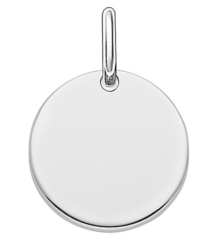 THOMAS SABO Love Bridge engravable sterling silver plated coin pendant