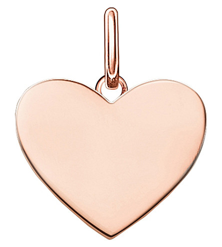 THOMAS SABO Love coin engravable rose heart pendant