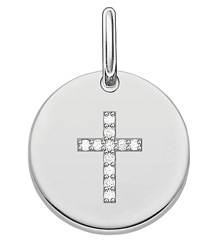 THOMAS SABO Love Bridge Cross Disc sterling silver pendant
