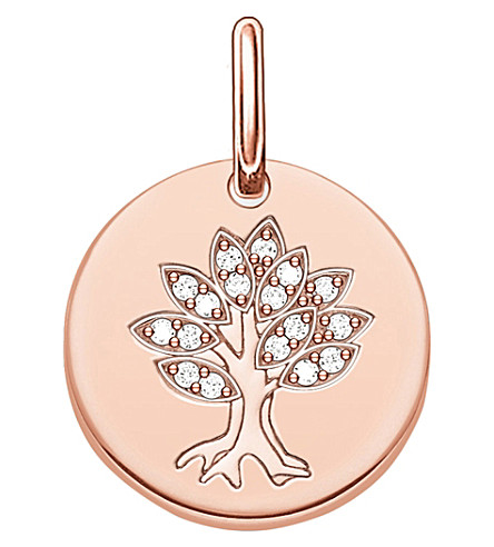 THOMAS SABO Tree of Life 18ct rose gold plated sterling silver pendant