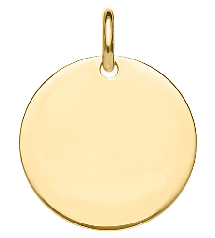 THOMAS SABO Love Bridge Disc 18ct gold-plated sterling silver pendant