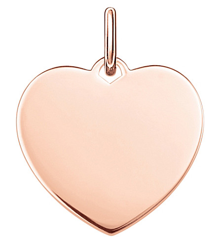 THOMAS SABO Love Bridge Heart 18ct rose gold-plated pendant