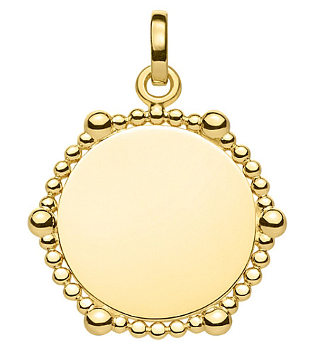 THOMAS SABO Love Bridge Coin Dots 18ct yellow gold-plated pendant