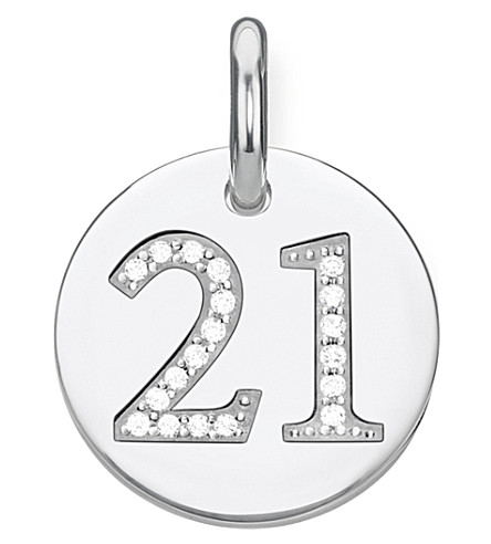 THOMAS SABO Love Coin number 21 sterling silver disc pendant