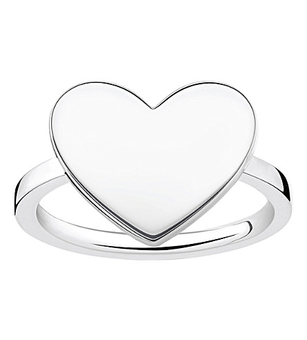 THOMAS SABO Love Bridge engraveable sterling silver heart ring