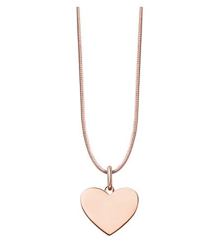 THOMAS SABO Little Secrets 18ct rose-gold pendant necklace (Beige