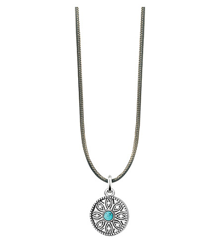 THOMAS SABO Little Secrets sterling silver turquoise flower necklace (Blue