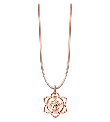 THOMAS SABO Little Secrets rose-gold plated and zirconia chakra necklace (Beige