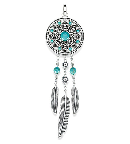 THOMAS SABO Dreamcatcher sterling silver pendant