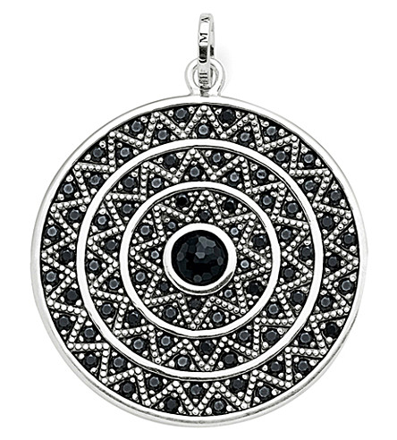 THOMAS SABO Zigzag sterling silver and onyx pendant