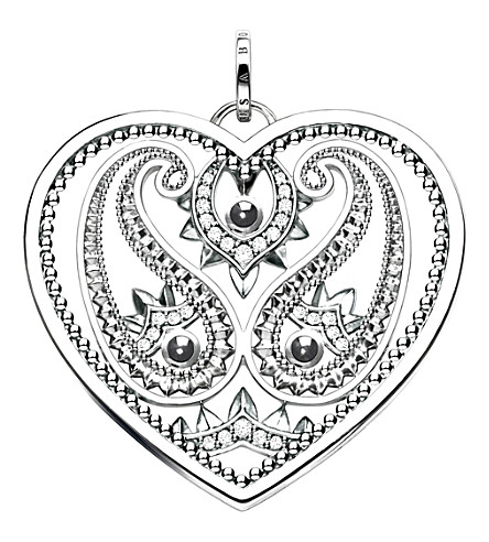 THOMAS SABO Oriental Heart sterling silver pendant