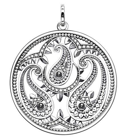 THOMAS SABO Oriental disc sterling silver and zirconia pendant