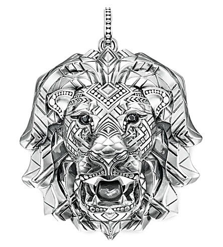 THOMAS SABO Africa sterling silver lion's head pendant
