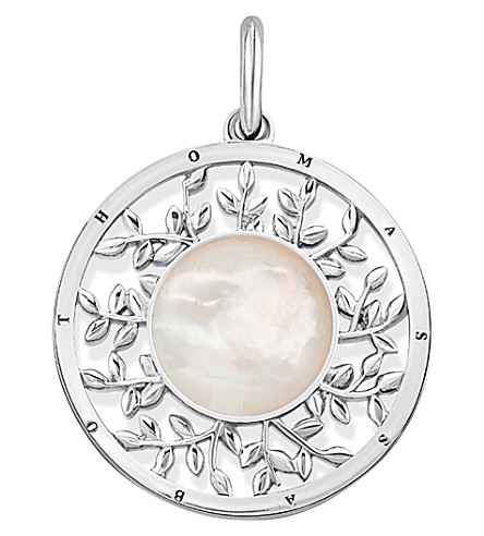 THOMAS SABO Tree of Life sterling silver and mother-of-pearl pendant