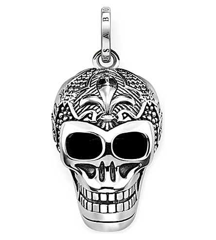 THOMAS SABO Rebel at Heart skull sterling silver pendant