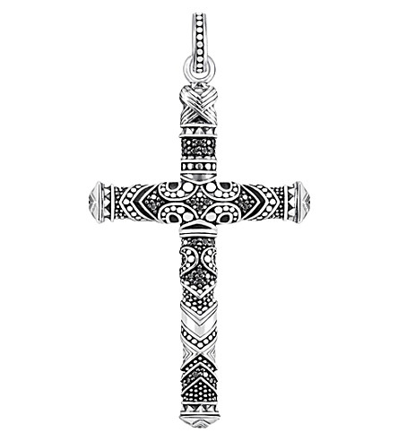 THOMAS SABO Maori cross sterling silver pendant