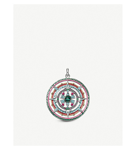 THOMAS SABO Sterling silver and enamel amulet pendant