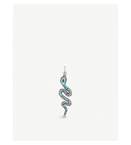 THOMAS SABO Tropical sterling silver and coloured stone snake pendant