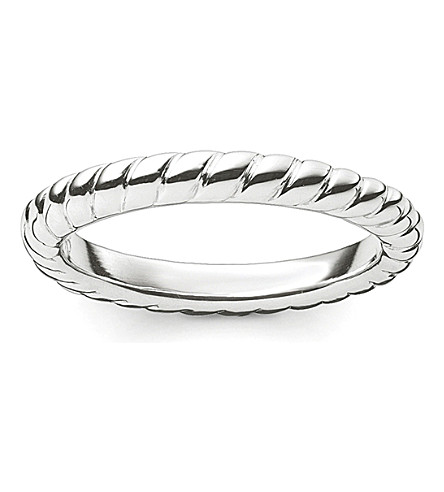 THOMAS SABO Glam & Soul sterling silver twisted midi ring