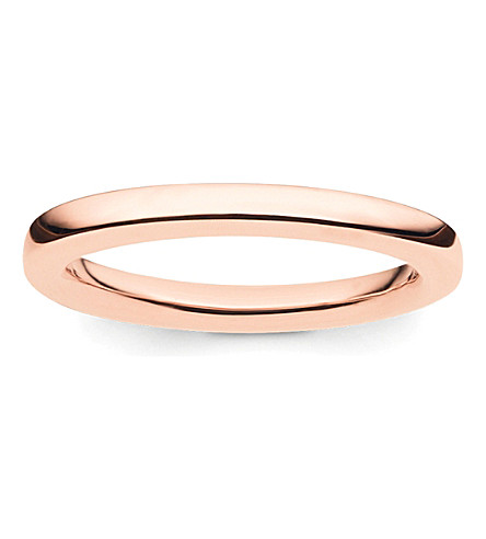 THOMAS SABO Glam & Soul 18ct rose-gold plated sterling silver midi band ring