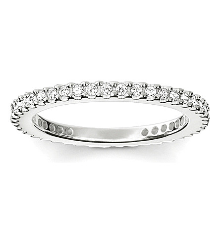 THOMAS SABO Glam & Soul sterling silver and pavé zirconia midi eternity ring
