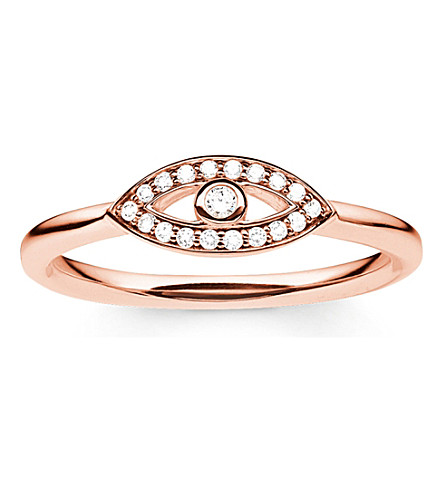 THOMAS SABO Fatima's rose gold nazar's eye ring