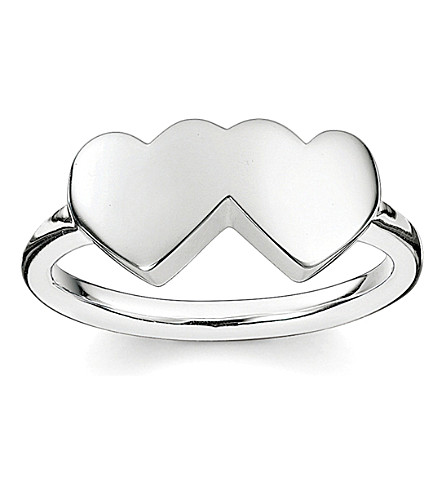 THOMAS SABO Classic sterling silver merging hearts ring