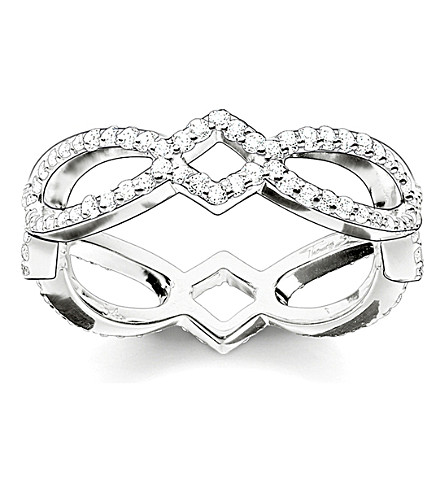 THOMAS SABO Eternity of love sterling silver and pavé zirconia infinity ring