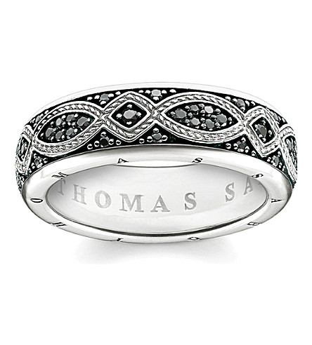 THOMAS SABO Rebel at Heart black pavé zirconia promise ring