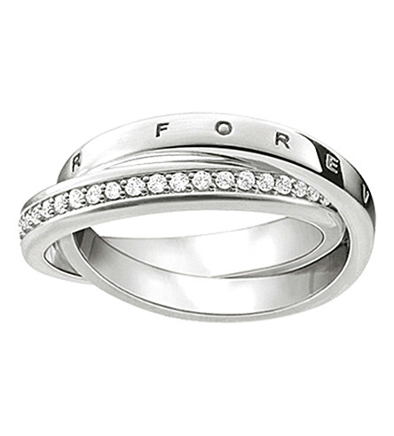 THOMAS SABO Glam & Soul Together Forever sterling silver intertwined ring
