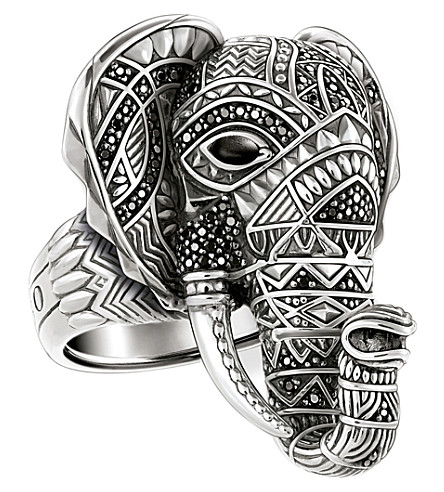 THOMAS SABO Elephant head sterling silver ring