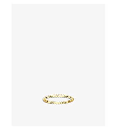 THOMAS SABO 华丽 & 灵魂点纯银和18ct 黄色金戒指