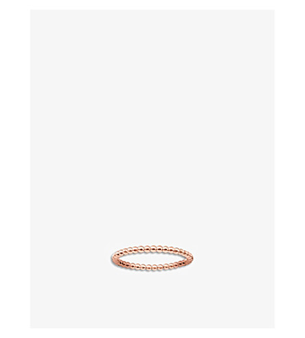 THOMAS SABO Dot 18ct rose gold-plated ring