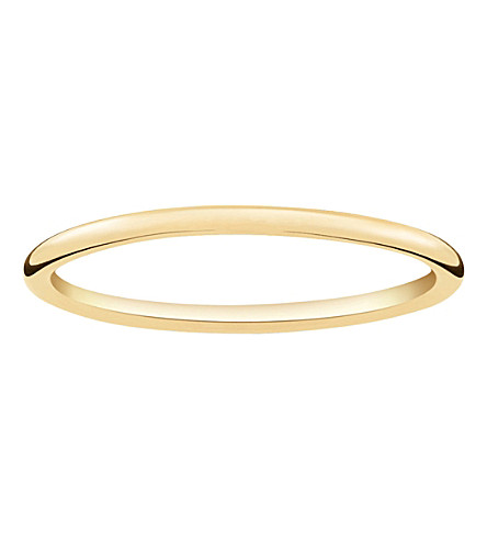 THOMAS SABO Slim 18ct yellow gold-plated ring