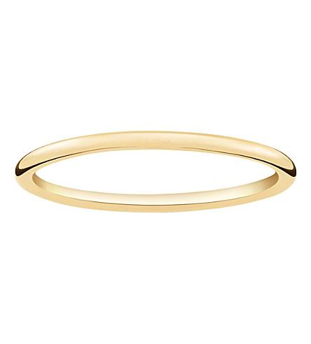 THOMAS SABO 超薄18ct 黄色镀金戒指