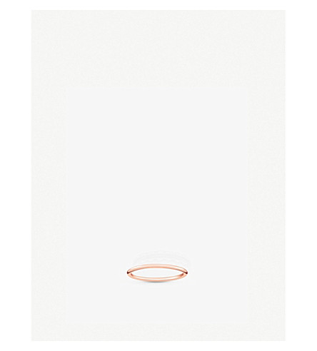 THOMAS SABO Slim 18ct rose gold-plated ring