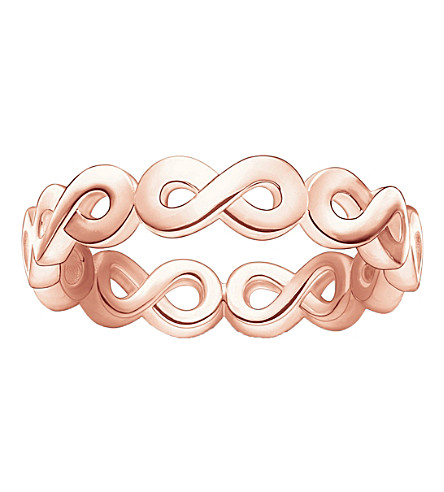 THOMAS SABO Infinity 18ct rose gold-plated ring