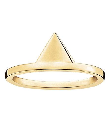 THOMAS SABO Triangle 18ct yellow gold-plated stacking ring