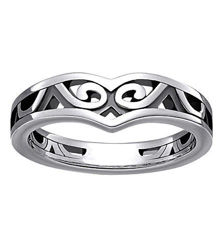 THOMAS SABO Maori sterling silver whale fin ring