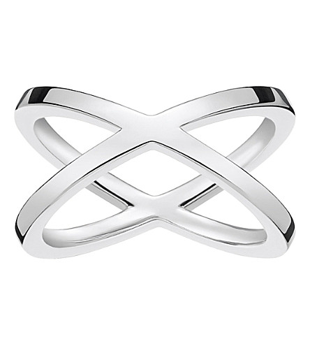 THOMAS SABO Criss-cross sterling silver ring