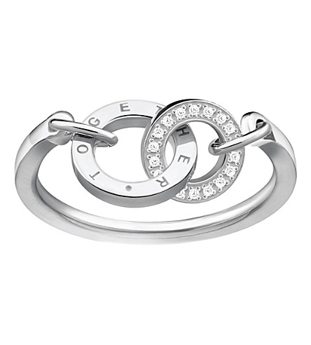 THOMAS SABO Together Forever sterling silver and zirconia ring
