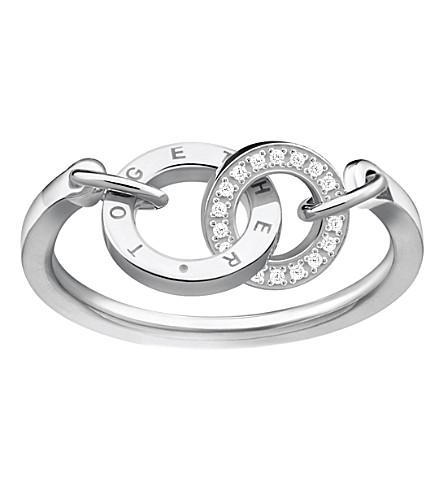 THOMAS SABO 一起永远纯银和氧化锆环