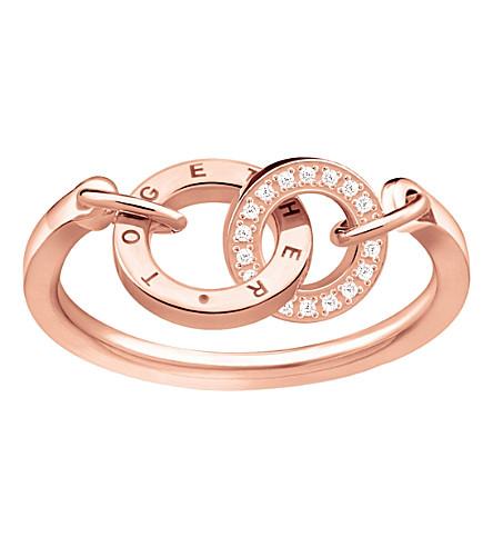 THOMAS SABO 一起永远18ct 玫瑰镀金戒指