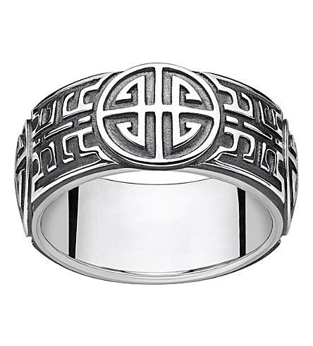 THOMAS SABO Rebel at Heart blackened sterling silver ring