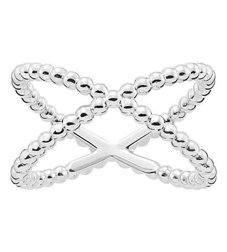 THOMAS SABO Criss-cross dot sterling silver ring